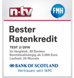 n-tv  Test 2/2016 - Bester Ratenkredit