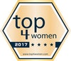 "Goldenes Signet ""top4women"""