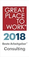 Great Place to Work - Beste Arbeitgeber Consulting 2018
